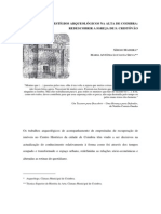 Vestigios Arqueologicos Na Alta de Coimbra Redescobrir a Igreja de S Cristovao