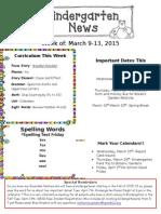 Newsletter March 9