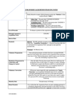 term sheet for ongrid acquisition financing notes