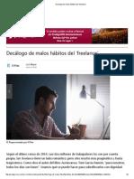 Decálogo de Malos Hábitos Del 'Freelance'