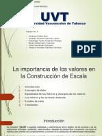 Equipo 3 Etica (La Importancia de Los Valores en La Construccion de Escala)