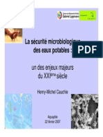Securite Microbiologique Eaux Potables