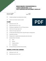 benchmark civil construction checklist (1)