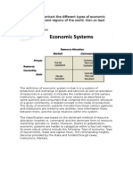 Compare and Contrast the Different Types of Economic Systems in Different Regions of the World