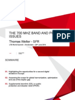 The 700MHz Band and PPDR Issues Thomas Welter SFR June 2014