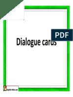 Dialogue Cards Shopping