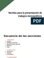 Normas Para Trabajos Monograficos