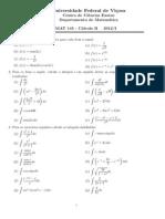 Lista Cálculo B