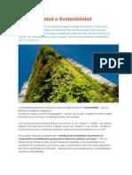 Sustentabilidad o Sostenibilidad