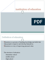 the institution of education power point