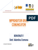 Imprenditori Bravi Comunicatori - Slides Valentina Cremona