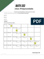 Math 252 Newton Polyn Mial