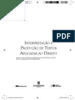 Livro Interpretação e Produção de Textos Aplicadas Ao Direito