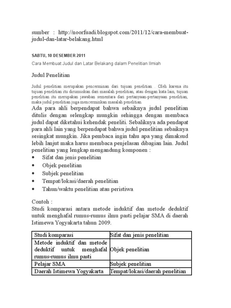 Doc Subjek Dan Objek Penelitian Seniorita Dewi Suluh Academia Edu