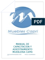 Manual de Capacitacion y Adiestramiento Muebleria Capri s