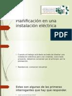 Planificación en una instalación eléctrica.pptx