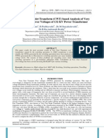 Continuous Wavelet Transform (CWT) based Analysis of Very Fast Transient over Voltages of 132 KV Power Transformer