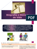 Biografía o Historia de Vida Investigación
