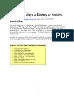 Destroy Arduino