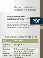Myths and Barriers in BPR