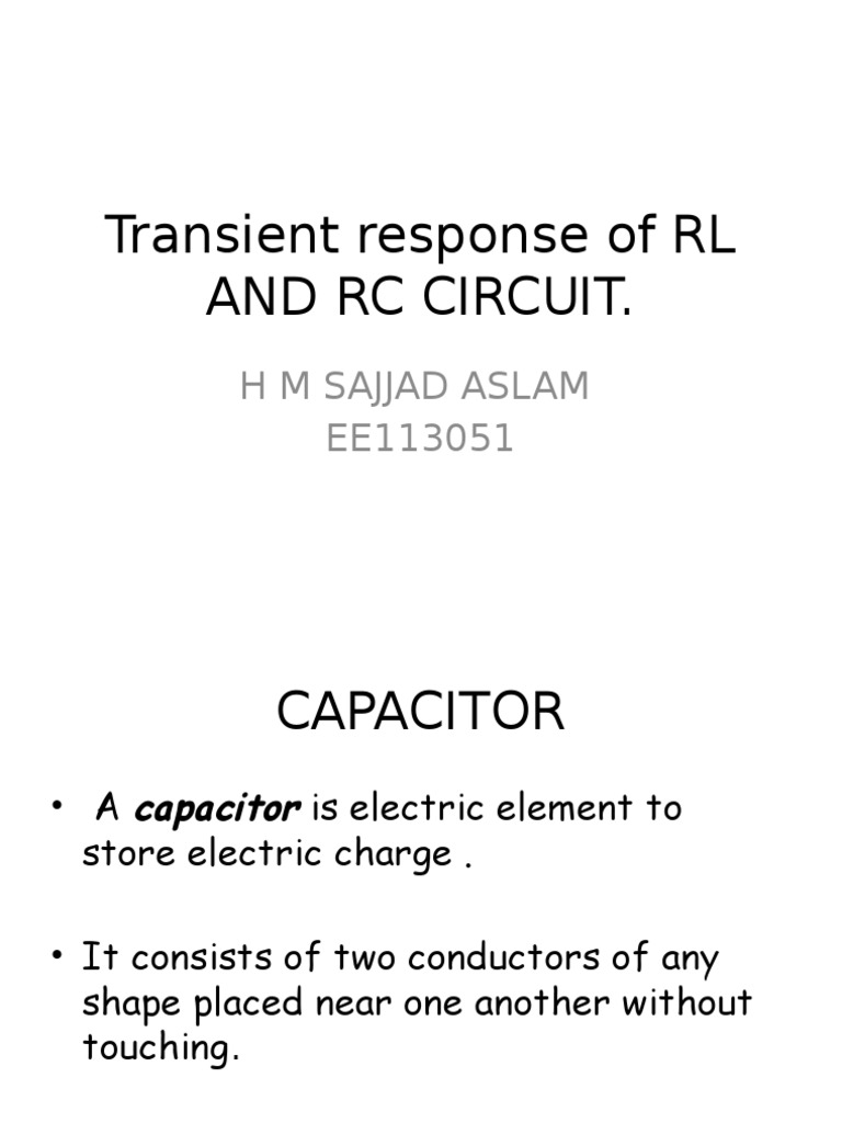 Transient Response Of Rl And Rc Circuit Inductor Inductance Pictures