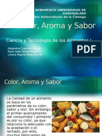Color, Aroma y Sabor