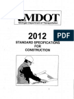 MDOT - 2012 Standard Specifications for Construction