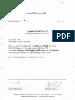 kosher certification example