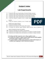 Analog Lab Manual