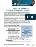 Guide to Using Kafta to Export and Import Goods