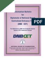 Dnb Cet- January 2015