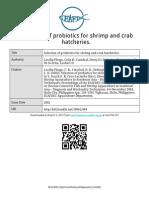 Seleksi Probiotik untuk Kepiting dan Udang