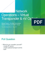 Simplified Network Operations – Virtual Transponder & NV Optical