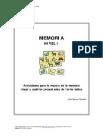 Memoria Visual y Auditiva Nivel I Varios
