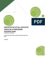 Proyecto de Ley No. Estatuto Único De