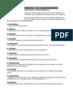 Les 12 Obstacles a La Communication