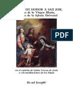 Novena a San José en el espíritu de Santa Teresa de Jesús