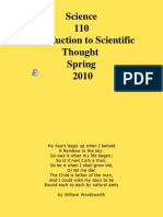 Science 110 Introduction to Scientific Thought Spring