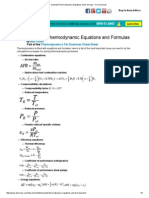 Important Thermodynamic Equations and Formulas - For Dummies
