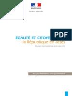 Les conclusions du Comité Interministériel-Egalite-Citoyenneté