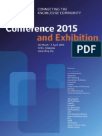 UKSG Annual Conference and Exhibition 2015 Programme