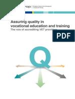 Assuring Quality in VET