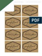 Castile Soap Labels