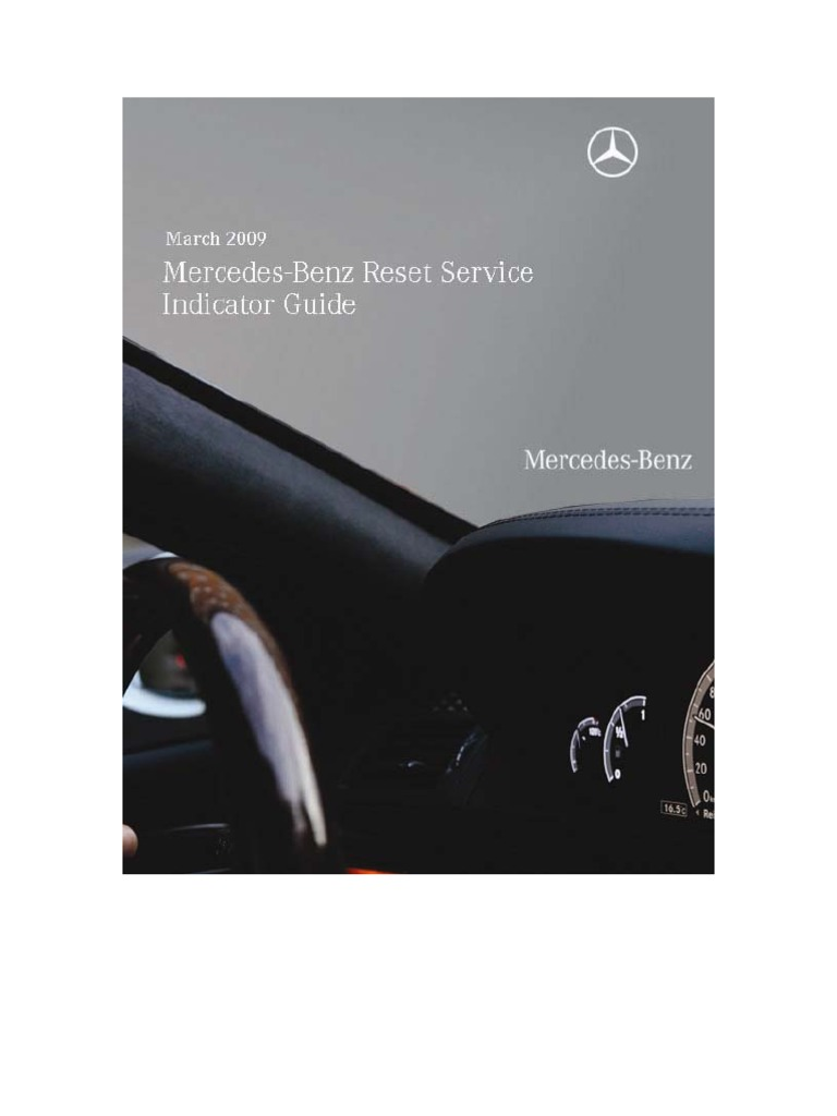 march 2009 mercedes benz reset service indicator guide mercedes rh scribd com mb reset service indicator guide pdf Earthquake Gas Shut Off Valve