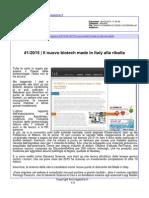 Il nuovo biotech made in Italy alla ribalta - lincmagazine.it del 6 marzo 2015