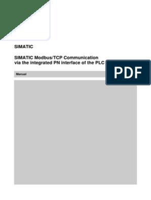 Modbus TCP PN CPU English | Port (Computer Networking