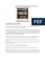 Jurisprudence Notes-Legal Concepts