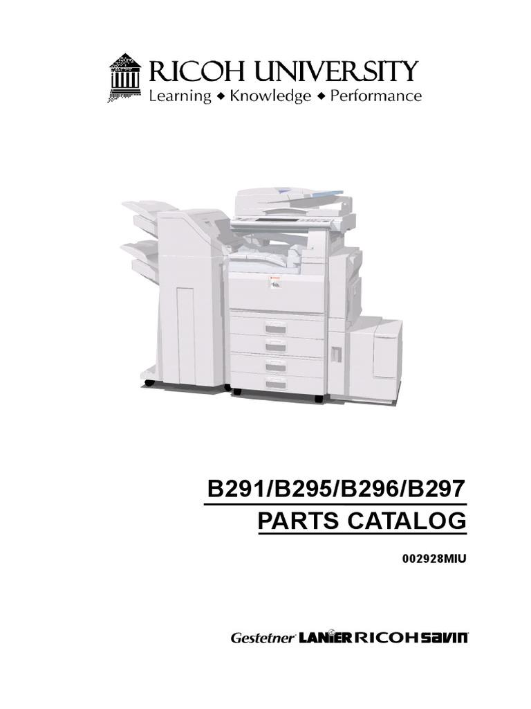 Kaservis.com Manuales Tecnicos Ricoh Fotocopiadorasbyn 3500-4500 MP 3500  4500-Manual Partes | Clutch | Belt (Mechanical)