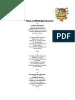 HimnoMuncipioLibertador Letra