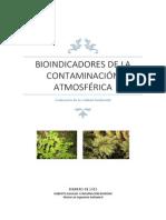 Trabajo Bioindicadores de La Contaminación Atmosférica. Robero Aguilar y Encarnación Moreno